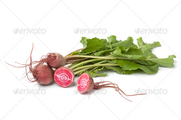 Fresh raw Chioggia beets - Stock Photo - Images