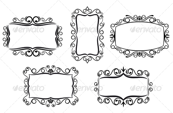 Decorative frames by VectorTradition | GraphicRiver