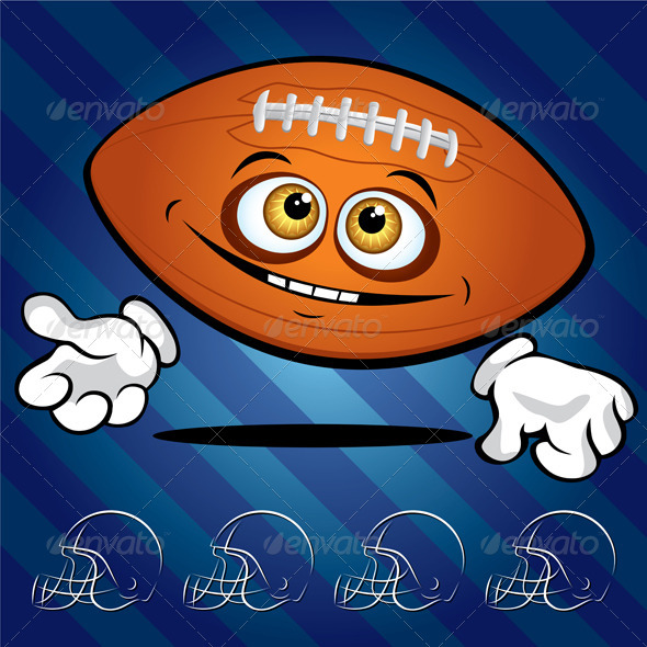 Funny smiling football ball  - Characters Vectors