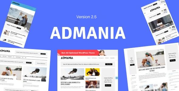 Admania - Adsense WordPress Theme With Gutenberg Compatibility