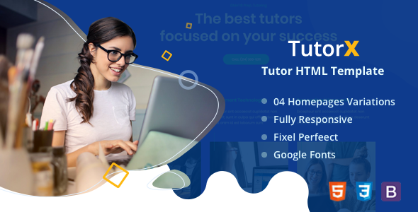 TutorX | Tutoring HTML Template