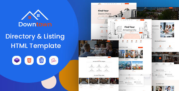 Download Downtown - Directory & Listing HTML Template }}