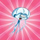 Funny jellyfish on the pink bacground - GraphicRiver Item for Sale