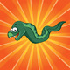 Funny moray on the orange background - GraphicRiver Item for Sale