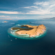Lone standing island. Aerial drone shot. Indonesia - PhotoDune Item for Sale