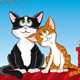 Cats on the roof - GraphicRiver Item for Sale