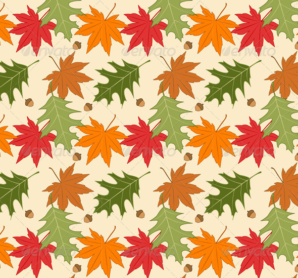 Autumn Seamless Background - Patterns Decorative