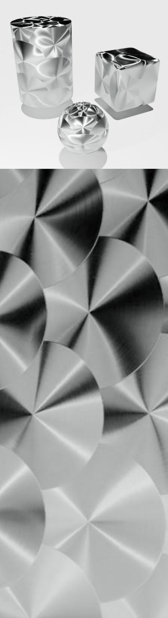 Smooth decorated metal