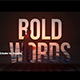 Bold Words - VideoHive Item for Sale