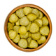 Pickled cucumber discs, known as pickle or gherkin, in wooden bowl - PhotoDune Item for Sale