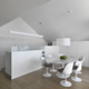 Modern Dining Room and Kitchen Interior with Dining Table and Wooden Floor in the Attic - PhotoDune Item for Sale
