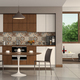 Living room with modern kitchen and round table - PhotoDune Item for Sale