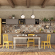 Vintage kitchen with dining table and yellow chair - PhotoDune Item for Sale