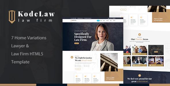 Kodelaw - Lawyer Attorney HTML