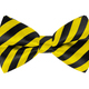 Yellow and Black Striped Bow Tie - PhotoDune Item for Sale