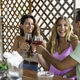Happy Friends Having Fun Toasting Red Wine Together Outdoors on the Balcony - PhotoDune Item for Sale
