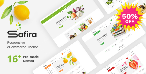 Safira - Responsive OpenCart Theme (Included Color Swatches)