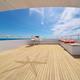 Ocean calm water view from yacht flybridge open deck - PhotoDune Item for Sale