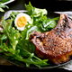 Grilled pork steak with green salad - PhotoDune Item for Sale