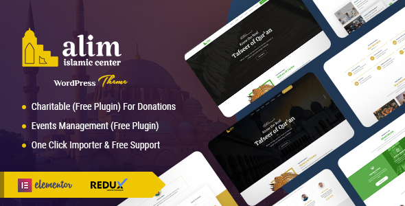 Alim - Islamic Institute & Mosque WordPress Theme