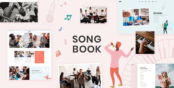 SongBook - Music School WordPress Theme