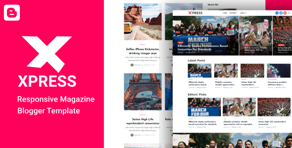 XPress - Lifestyle Blog & Magazine Blogger Template