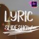 Lyric Slideshow   Premiere Pro - VideoHive Item for Sale