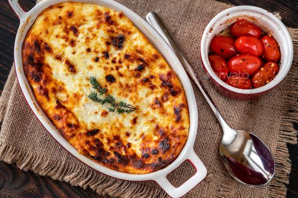 Baked ricotta - Stock Photo - Images