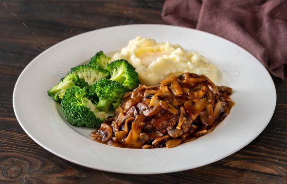 Salisbury steak - Stock Photo - Images