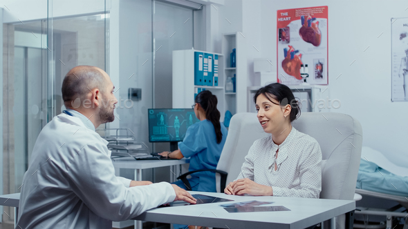 Good news at the doctor - Stock Photo - Images
