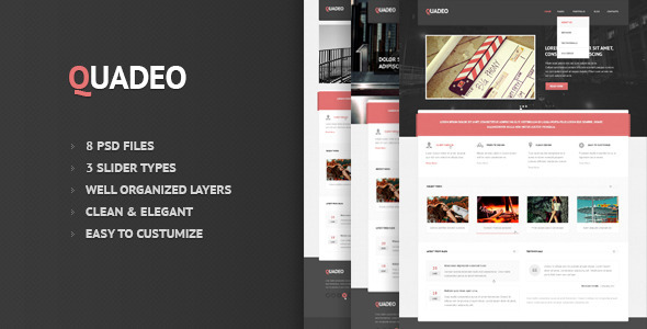 Quadeo-Clean PSD Template