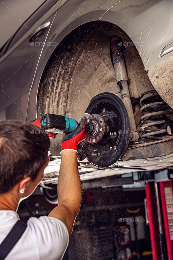 Auto car repair service center - Stock Photo - Images