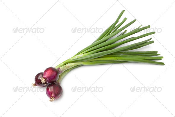 Fresh red raw onions - Stock Photo - Images