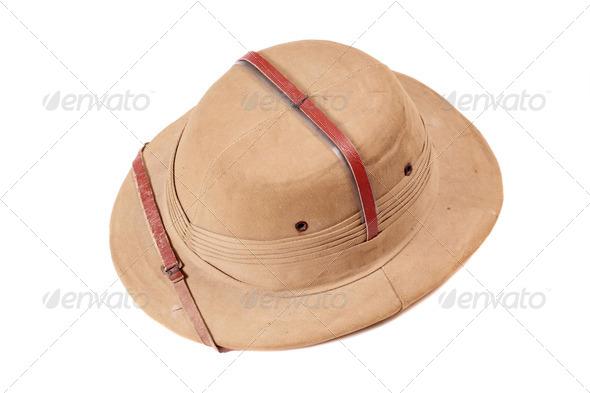 Safari hat - Stock Photo - Images