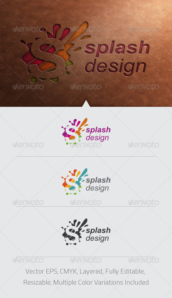 Splash Design Logo Template - Abstract Logo Templates