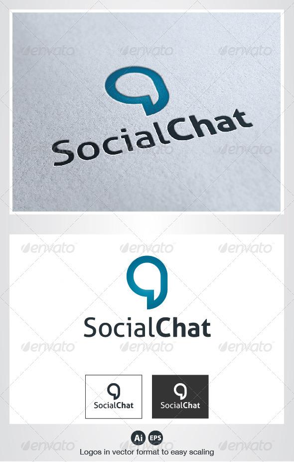 Social Chat Logo - Symbols Logo Templates