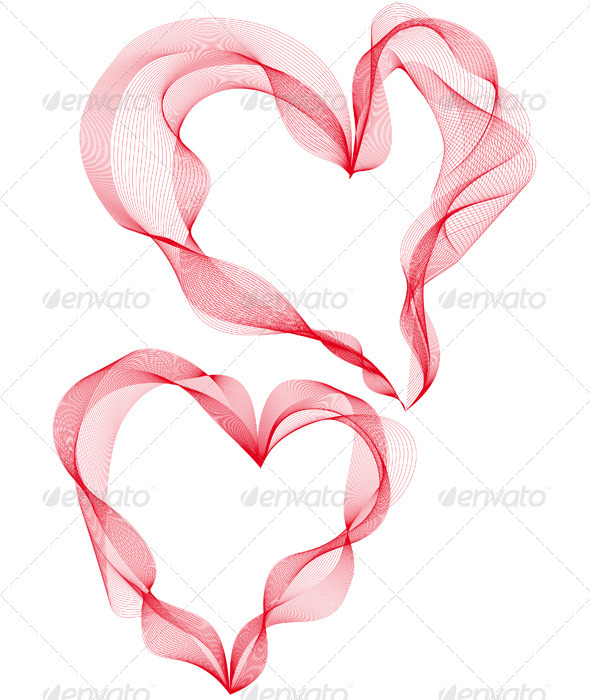 Abstract Heart Designs, Vector - Flourishes / Swirls Decorative