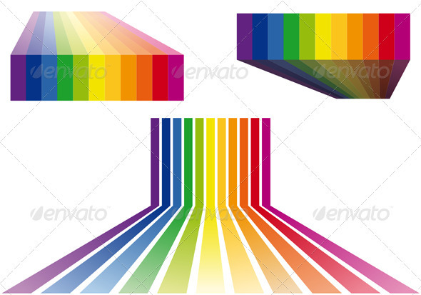 Colorful Stripes Vector  - Backgrounds Decorative