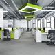 3d rendering green business meeting and working room on office building - PhotoDune Item for Sale