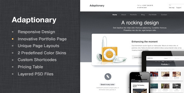 Adaptionary – Responsive HTML Template