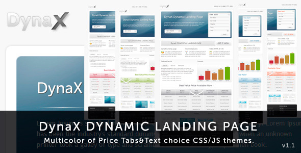 Free Download DynaX - Landing Page Nulled Latest Version