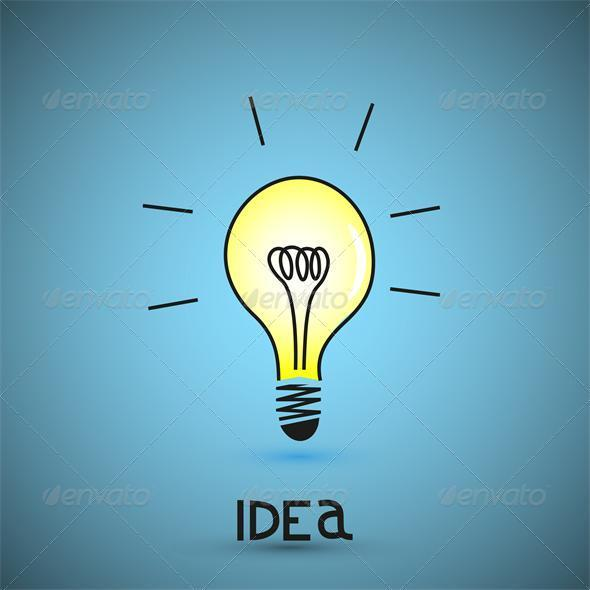 Vector bulb light idea - Backgrounds Business