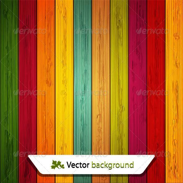 Vector colorful wooden background - Backgrounds Business