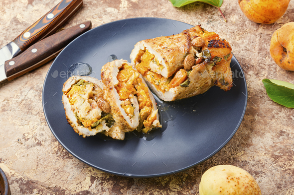 Meatloaf with apricot. - Stock Photo - Images