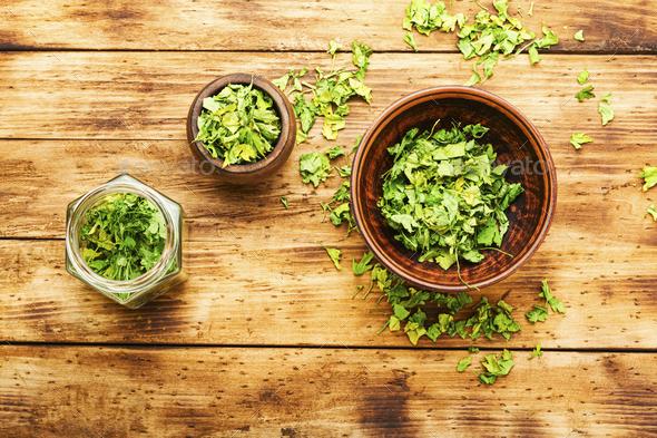 Dried parsley seasoning - Stock Photo - Images