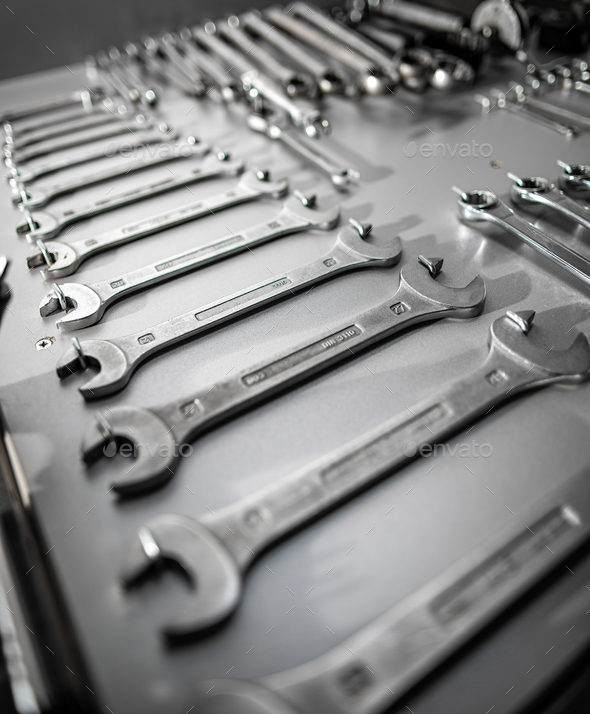 Set of old wrenches - Stock Photo - Images