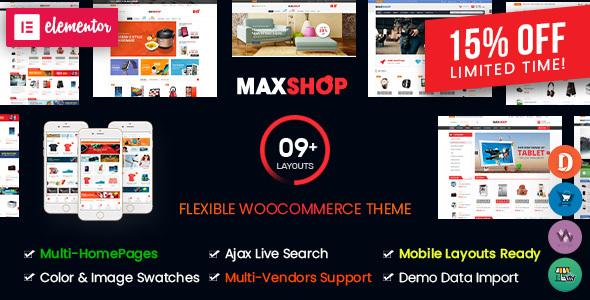 MaxShop - Multi-Purpose Responsive Elementor WooCommerce WordPress Theme (Mobile Layouts Ready)