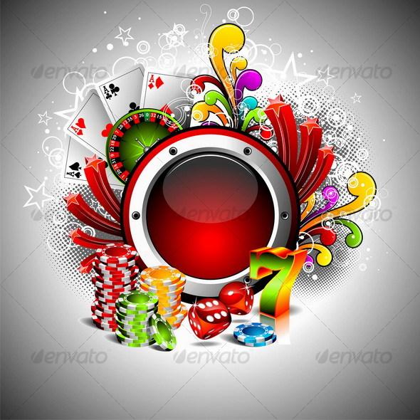 Casino design. - Miscellaneous Vectors