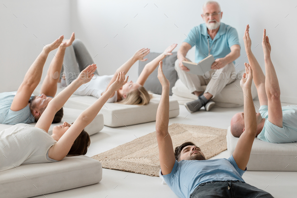 People realxing on therapy - Stock Photo - Images