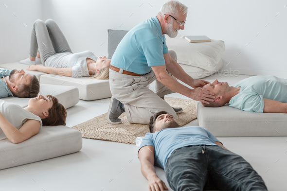 Bioenergetic therapy session - Stock Photo - Images